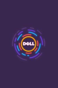320x480 Dell Logo Minimalism