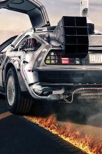 Delorean Back To The Future 4k