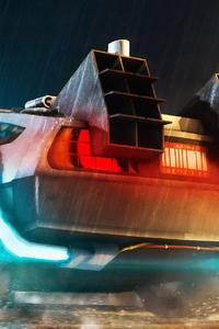 Delorean Cyberpunk Car 4k