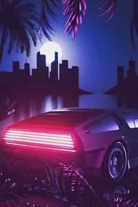 Delorean Retrowave Miami