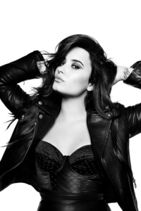 Demi Lovato 4k Monochrome