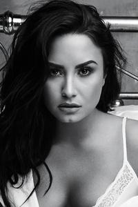 Demi Lovato Monochrome 4k