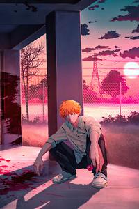 240x400 Denji Chainsaw Man Anime Boy 4k