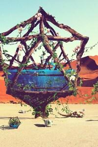 480x854 Desert Art Ziraffe