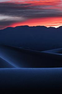 Desert Dune Landscape Nature Sand Sunset 4k