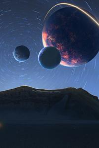 800x1280 Desert Landscape Digital Art