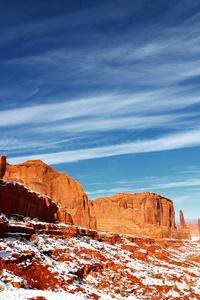 640x1136 Desert Mountain Mesa Cliff 5k