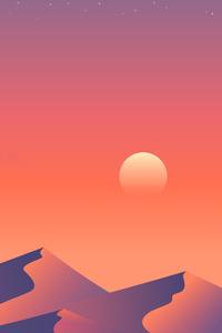 800x1280 Desert Sun Day 5k Minimalism
