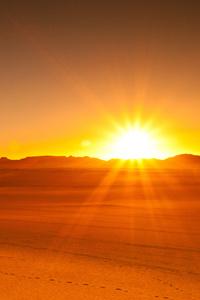 480x854 Desert Tassili Sunrise Algeria 5k