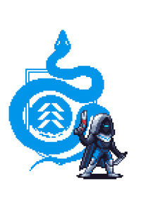 Destiny 2 Pixel Art Hunter