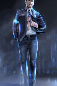 640x1136 Detroit Become Human Artwork 4k