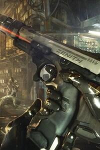 640x960 Deus Ex Mankind Divided Game Weapon