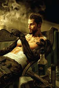 2160x3840 Deus Ex Manking Divided Smoking And Chill 5k