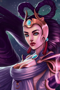 Diana League Of Legends Fantasy Girl