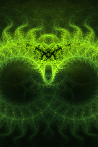 Digital Art Abstract Green