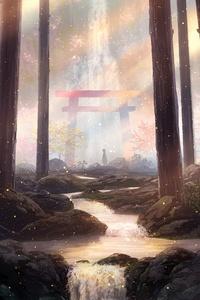 Digital Art Forest Artwork 8k