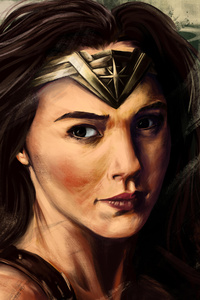 1080x2160 Digital Artwork Of Wonder Woman