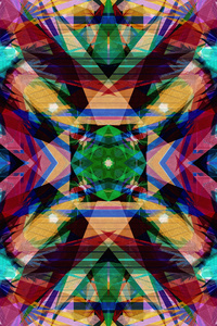 Digital Flower Abstract Art 4k