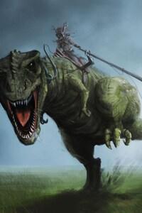 1080x2160 Dinosaur Art