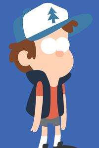 Dipper In Gravity Falls Minimalism 8k