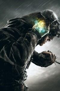 1080x2160 Dishonored Corvo Skull Mask