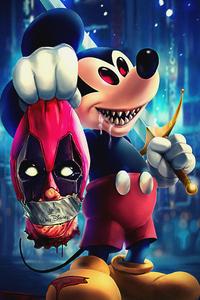 1080x2280 Disney Evil Mickey