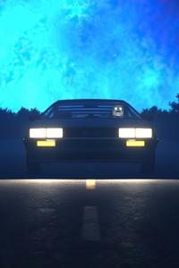 640x960 Dmc Delorean Synth Ride