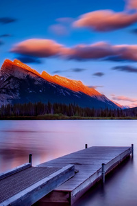 Dock Side Mountains Sky Landscape