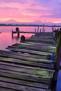 Dock View Colorful 4k Stock