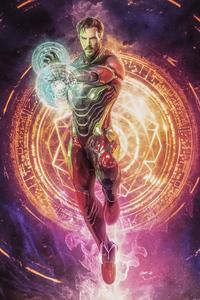 1125x2436 Doctor Strange As Iron Man