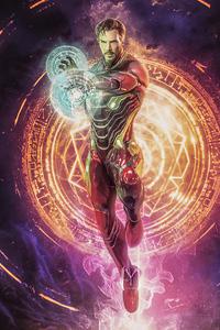 1125x2436 Doctor Strange X Iron Man 4k