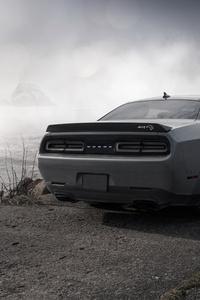 Dodge Challenger Demon SRT 4k Rear