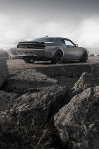 480x800 Dodge Challenger Demon SRT Rear
