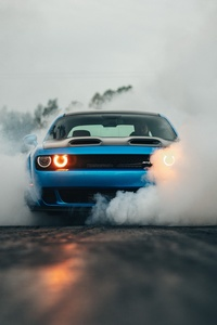Dodge Challenger Hellcat Orange Eye
