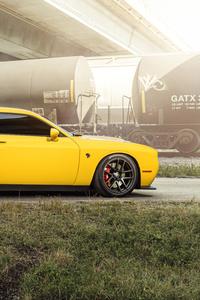 2160x3840 Dodge Challenger Hellcat Velgen Wheels 8k