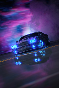 640x1136 Dodge Challenger Neon Ride 5k
