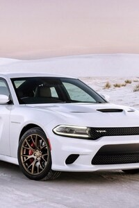 1242x2688 Dodge Charger White