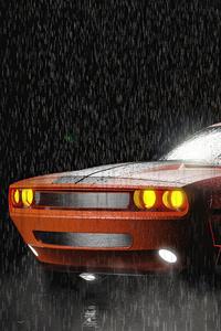 800x1280 Dodge Night Challenger 5k