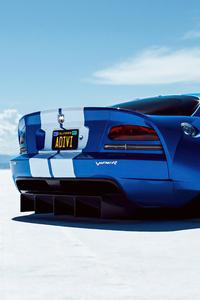 720x1280 Dodge Viper Widebody Rear Look 4k