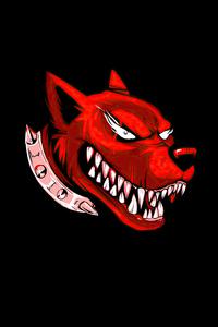 320x568 Dog Angry Red Minimal 4k