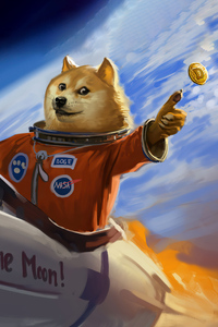 1080x1920 Doge To The Moon