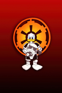 640x1136 Donald Duck Stormtrooper