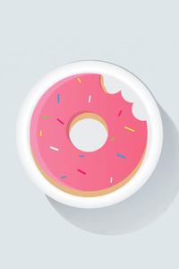 1242x2688 Donuts Minimalism 4k