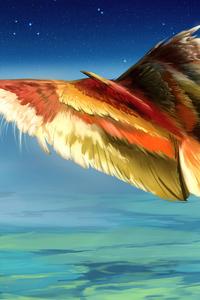 720x1280 Doodle Big Bird 4k