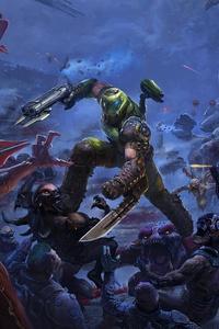 1440x2960 Doom Eternal The Ancient Gods 4k