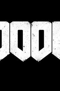 640x1136 Doom Game Logo