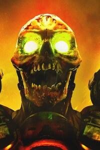 480x854 Doom Game Skull