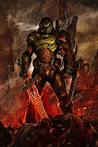 320x480 Doom Slayer