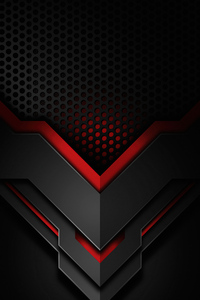 1242x2688 Down Shapes Red 4k