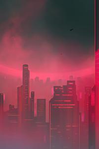 720x1280 Downtown Mist 4k
